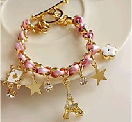 European Style Eiffel Tower Star Cham Bracelet