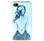 Girl's Back Pattern Hard Case for iPhone 4/4S