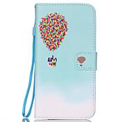 casa balão padrão caso o material pu cartão de cordão para Samsung Galaxy S7 / s7edge