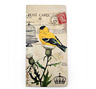 Old Fashion Form and Yellow Bird Design Notebook  40Pages (1 Book)