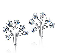 Lureme®  Korean Fashion Crystal 925  Sterling Silver Wish Tree Earrings