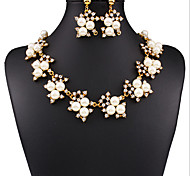 May Polly The new party Pearl Necklace Earrings Set
