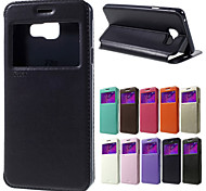 For Samsung Galaxy Case Card Holder / with Stand / with Windows / Flip / Magnetic Case Full Body Case Solid Color PU Leather Samsung