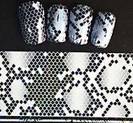 5pcs 20*4cm 2016 New Japanese White  Series Nail Art Overlapping Lozenge Image Foils DIY Nail Sticker STZ Jw16