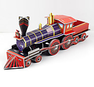 Steam Train 3D Puzzles Paper DIY Toys Modeling Toys