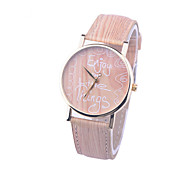 Simulation Wooden Watch Quartz Women Watches Casual Wooden Color Leather Strap Watch Wood  Wristwatch Relogio Masculino