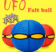 2016 New Novelty Flying UFO Deformation Flat Throw Disc Ball Toy Fancy Soft Kids Outdoor Children's Toys
