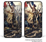 "iPhone 6/6S Body Art Skin Sticker: ""Liberty Leading the People"" by Eugène Delacroix (Masterpieces Series)"