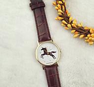 Luxury Watch Men Newly Design Vintage Brief Painting Horse Watch Quartz Wrist Watches Relogio Masculino Cool Watches Unique Watches