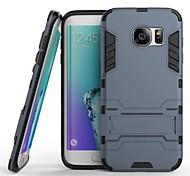 Для Samsung Galaxy S7 Edge Защита от удара / со стендом Кейс для Задняя крышка Кейс для Армированный PC SamsungS7 edge / S7 / S6 edge /