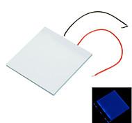 5 * 5 * 0,2 cm luz azul DIY LED luz de fondo del panel de guía de luz LGP para pi frambuesa Arduino - blanco + azul