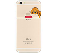 "Originality Design Puppy Poodle Eat""Apple""Light TPU Phone Case for IPhone 6/6s"
