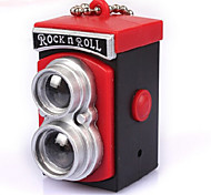 1pc Retro LOMO Camera Pendant LED Luminous Sound Keychains