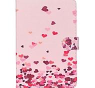 roze harten folio lederen stand beschermhoes met standaard voor Samsung Galaxy Tab 8.0 een T350