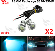 2 X ICE 12V 9W LED DRL Eagle Eye Light Car Auto Fog Daytime Reverse Signal