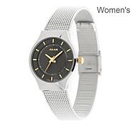 JULIUS Luxury Ultra-Thin Women Wrist Watch Casual Sport Stainless Steel Band Dress Watch JA-577