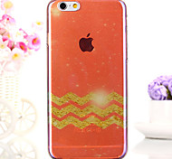 Wave Maple Leaf Red Semitransparent Glitter Soft iphone Back  Cover for iphone 6s/iphone 6