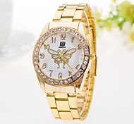 Women's Watch Casual Fashion Diamond Butterfly Pattern Steel Ladies Quartz Watch Cool Watches Unique Watches