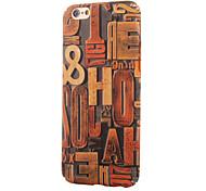 grano de madera de la vendimia ~ 2 pc con la pintura caso trasero para iphone6,6s