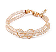 Korea Gold Crystal Mesh Hollow Ring bracelet