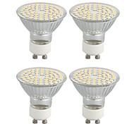 4 Stück / Dekorativ LED Spot Lampen Drehbae GU10 4W 320 LM 3500K K 60 SMD 3528 Warmes Weiß AC 220-240 V