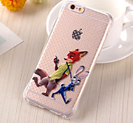 Cartoon Fox & Rabbit TPU Drop Resistance Phone Case for iPhone 6/6s