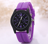 Women's Fashion Watch Casual Watch Quartz Rubber Band Black White Blue Red Brown Green Pink Purple