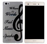 Mobile Shell funda protectora cáscara suave de TPU transparente modelo de la notación musical para Huawei p8 Lite