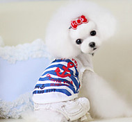 Dog Shirt / T-Shirt Red / White / Blue / Pink Summer Fashion