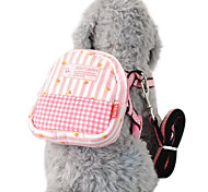 Dog Harness / Leash / Backpack Adjustable/Retractable Blue / Pink Textile