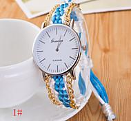 Women's Fashion Fabric Band Quartz Analog Wrist Watch(Assorted Colors)