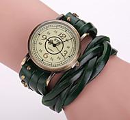 Xu™ Women's Vintage Leather Rivet Quartz Watch