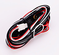 Iztoss 2 Lead Heavy Duty LED Work Light Bar 16AWG Wiring Harness with Laser Red & Green LED LIGHT Rocker Switch - 8FT