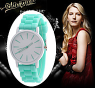 New Fashion Designer Geneva Ladies sports brand silicone jelly quartz watch