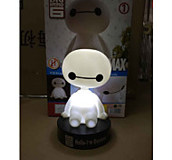 Big Hero 6 Baymax The Toy Car Jushi Bobblehead Light 1Pc Anime Action Figures Model Toy