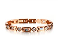 Healing Magnetic Bracelet Women 316L Stainless Steel Health Care Elements Magnetic Rose Gold Hand Chain