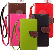Special Design Leaves Model PU Leather Full Body Cases Wallet for Huawei honor 4A/Y6