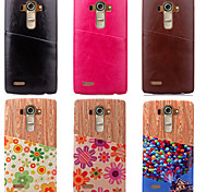 High Quality Luxury Genuine Leather Back Cover for LG G3/G4(Assorted Colors)