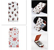 The Bottle Squid Patten Up-down Turn Over PU Leather Full Body Case for iPhone 4/4S