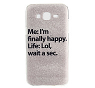 Happy Pattern TPU Material Phone Case for Samsung Galaxy J5