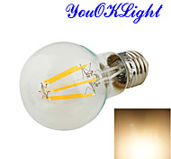 YouOKLight®  E27 6xCOB 6W 580LM 3000K Warm White Globe Bulbs Edison LED Filament Light(110-120/220-240/85-265V)