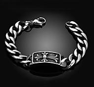 Cross Personality Retro Men's Stainless Steel Bracelet