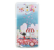 The Car Girl Painted Quicksand PC Phone Case For Samsung Galaxy Note3/Note4/Note5 + A Touch Screen Pen
