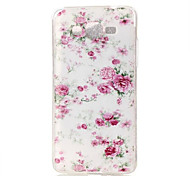 Peony Pattern TPU Soft Case Phone Case For Samsung Galaxy J5/J1/G530