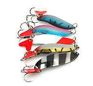 5pcs 5cm/9.5g Metal Lure Spoon Bait Mixed Color