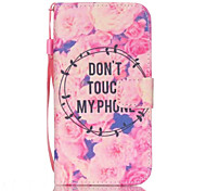 Peony Pattern PU Material Card Lanyard Case for Samsung Galaxy S7/S7Edge
