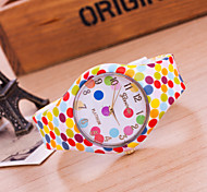 Women's New European Style Fashion Colorful Dots Silicone Watch