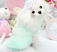 Dog Clothes/Jumpsuit Green / Pink Winter Solid Fashion