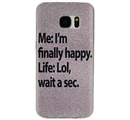 Happy Pattern TPU Material Phone Case for Samsung Galaxy S7/S7 edge/S7 Plus