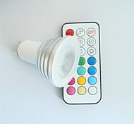 4W GU10 Точечное LED освещение MR16 1 Высокомощный LED 300 lm RGB Декоративная / Регулируемая / На пульте управления AC 100-240 V 1 шт.